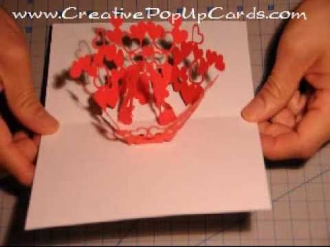 How to make a Valentine's Day Pop Up Card: Kissing Couple