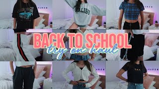 BACK TO SCHOOL CLOTHING + TRY ON HAUL 2019
