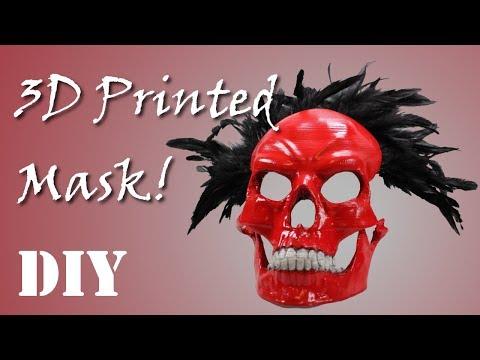DIY 3D Printed Halloween/Día de Muertos Mask