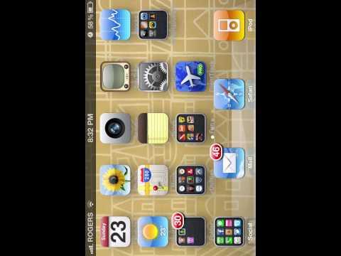 Rotate iPhone 4 home screen