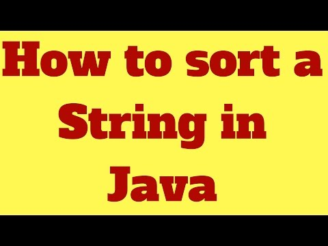 How to sort a string in java (without using String method)
