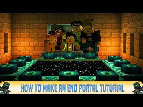 Minecraft: How to Make an ENDER PORTAL! PC/Java 1.12.2, PE 1.1.5, Xbox One, PS4, Switch
