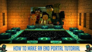 Minecraft 1112 Pc Pe How To Make An End Portal In Minecraft Pc Mcpe X