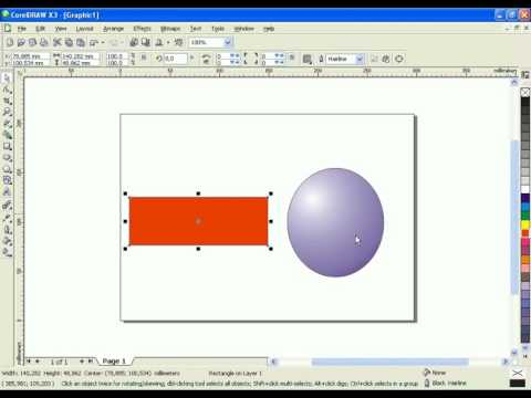 Tutorial Basic Corel Draw, How to Make Object With Gradient Color