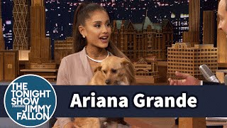 Ariana Grande Shows Off Her Winking Dog Toulouse and Sassy Nonna