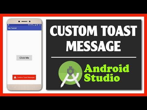 How To Create Custom Toast Message in Android Studio   Android Studio   Toast Message