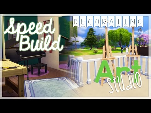 Sims 4: Speed Build - Art Studio {Part 2}
