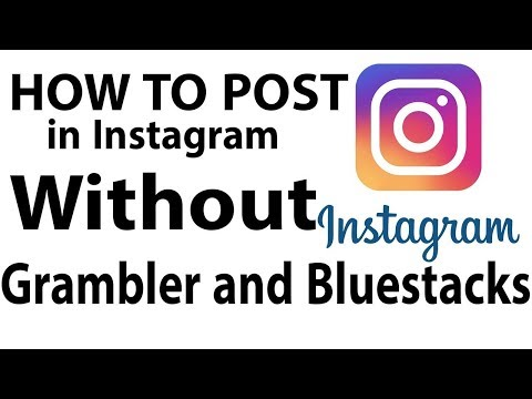 how to post on instagram by Pc/Laptop | How to upload photo on Insta 2017 it's free |