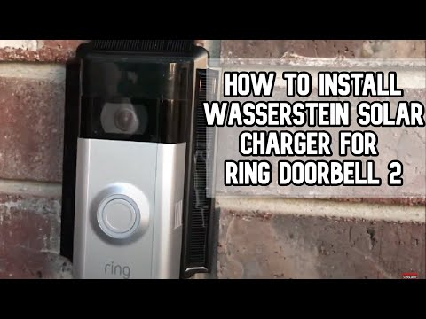 How to install Wasserstein Solar Charger for Ring Video Doorbell 2 DIY video #diy #ring