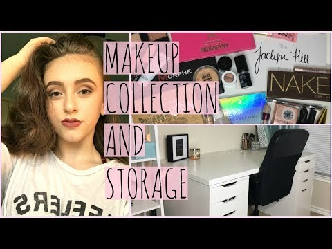 MAKEUP COLLECTION AND STORAGE OF A 15 YEAR OLD// Vanity Tour 2018