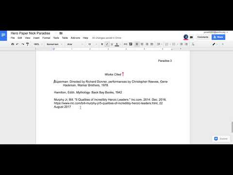 MLA Format - Works Cited Pages