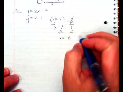 Solving a System with Substitution Ex2