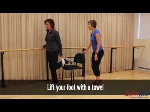 Leg (quad)  stretch- easy version