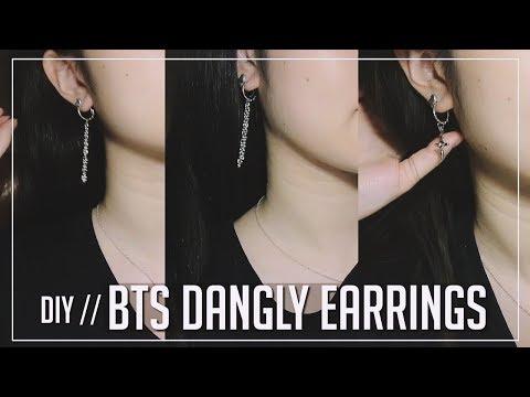 Easy DIY BTS Drop/ Dangle Earrings {Bangtan Boys Do It Yourself} ♡ LOVE YOURSELF | DNA MV