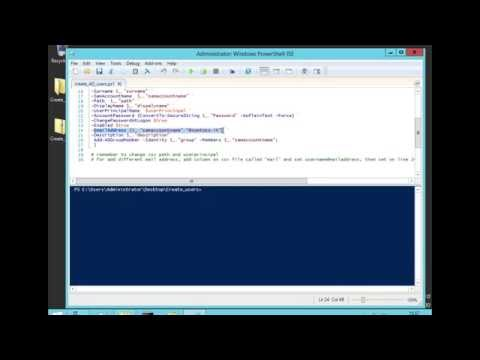Create multiple active directory users using cvs file and powershell