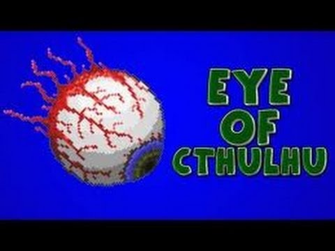Terraria tutorial: How to Spawn & kill the Eye Of Cthulhu