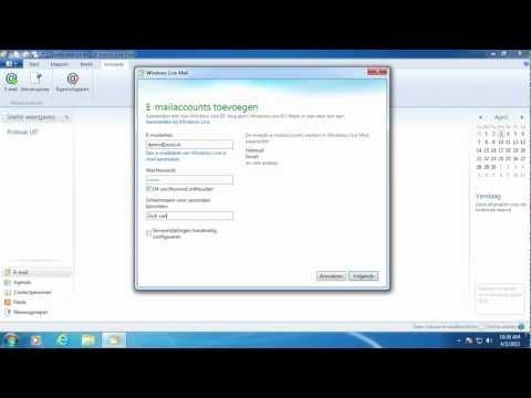 Hoe stel je je email in op Windows 7 met Windows Live Mail -- zoso.nl