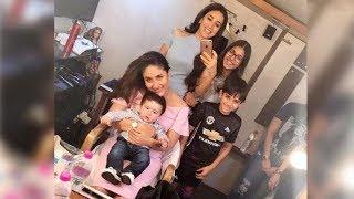 Taimur Ali Khan Poses With Cousins   Kareena Kapoor   Karisma Kapoor