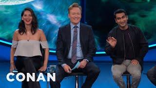 "Kumail Nanjiani & Olivia Munn: Beware Of ""Stink Shoulder"" At Comic-Con®  - CONAN on TBS"