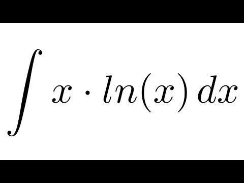 Integral of x*ln(x) (by parts)