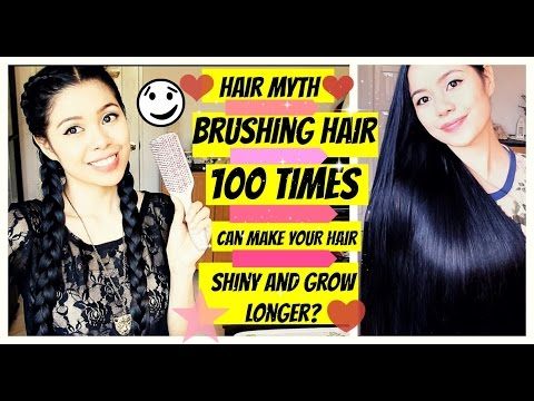 Hair Myth-Brushing Hair 100 Strokes A Day Will Make Your Hair Shiny and Grow Longer?