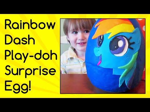 Rainbow Dash birthday Surprise Egg! My Little Pony blind bags, dog tags, cards, plushes, tin, more!
