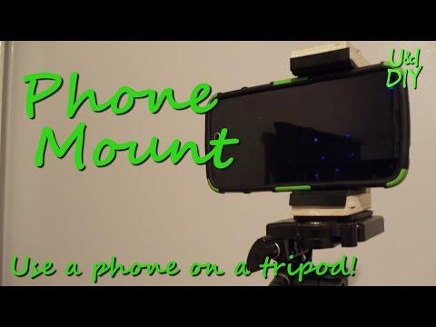 Tripod phone mount - DIY tutorial