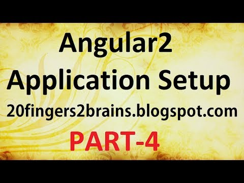 Angular 2 - Application Setup