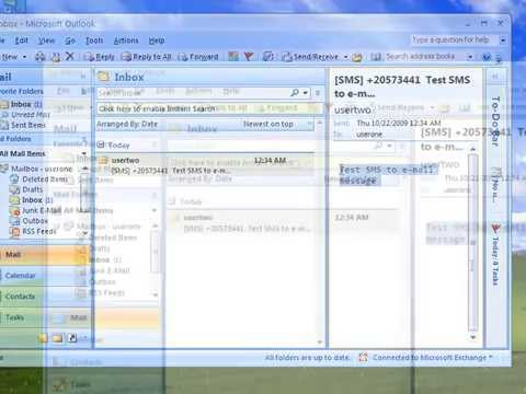 Send E-mail to SMS from Exchange 2007
