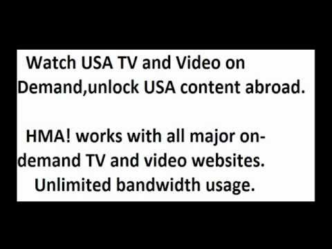 How to watch Hulu outside the US.HMA software.