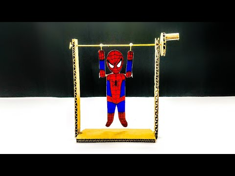 DIY Cardboard Pull-up Man || Best Toy For Kids