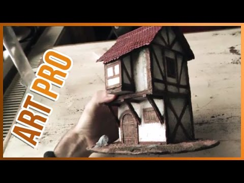 How make a scale model House - Paper and Cardboard