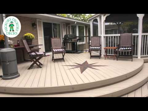 Curved Deck with Inlay