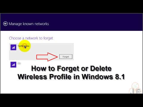 How to Forget or Delete Wireless Profile in Windows 8.1