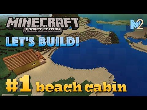 Minecraft PE - Beach Cabin (Let's Build a World #1)