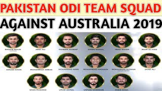 Pakistan ODI Team Squad Against Australia 2019 | Pakistan vs Australia Squad 2019 | Aus Tour Of Pak