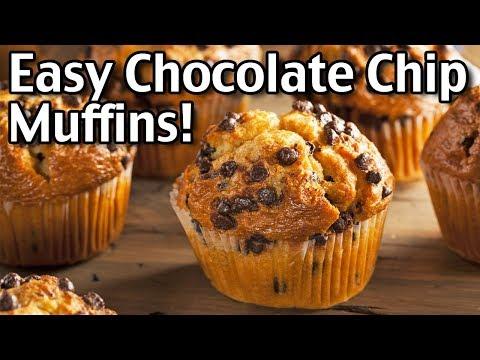 Easy Chocolate Chip Muffin Recipe! Super Yummy Muffins!