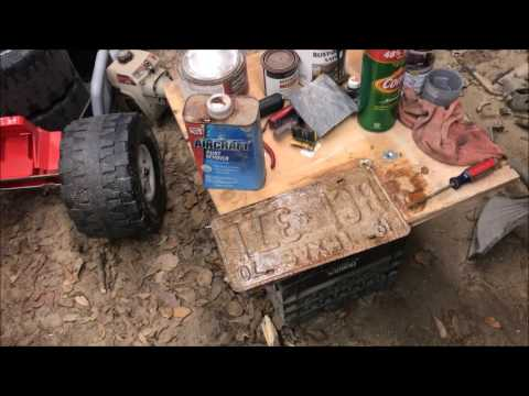 license plate restoration how to DIY do it yourself