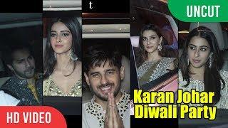 UNCUT - Karan Johar Diwali Party | Varun, Siddharth, Kareena, Sara, Shraddha, Kriti And Many