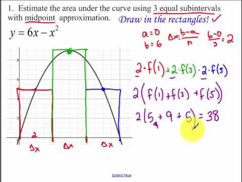 6.1 - Day 1 - Approximating Area Under a Curve (2018)