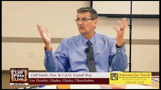 Download Cliff Smith, Pres. & C.E.O. United Way, Lee Hendry Glades Glades Okeechobee on Lee Pitts Live FOX 4 Video