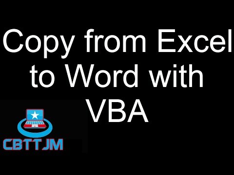 Copying Cells from Excel to Word with VBA
