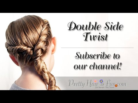 Double Side Rope Twist Braid | Medium Hairstyles| Pretty Hair is Fun