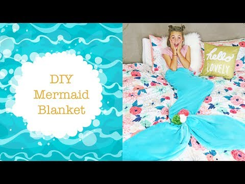 DIY Mermaid Tail Blanket For Kids | No Sew DIY Ideas | Kids Cooking and Crafts