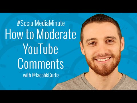 How to Use YouTube's NEW Comment Moderation Feature - #SocialMediaMinute