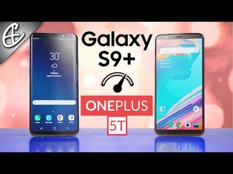 Galaxy S9 Plus vs OnePlus 5T Speedtest Comparison - Unbelievable!