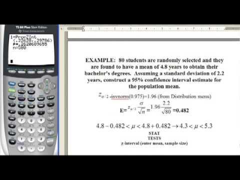 Statistics 7 Estimates and Sample Size