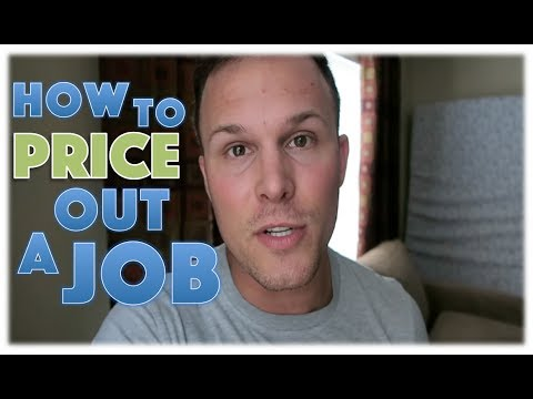 How to price out a job