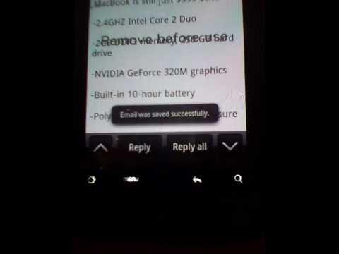 HTC Mail Widget Problem
