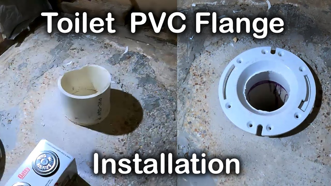 How to Install Toilet Flange | New construction toilet flange Installation